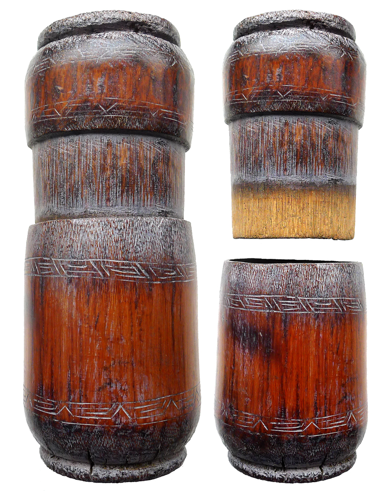 Timorese Bamboo Betal Nut/Tobacco Container
