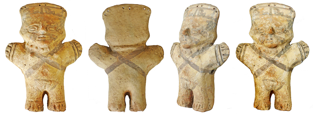 Pre-Columbian Chancay Terracotta Female Standing Figure